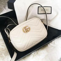 Gucci sells ladies'double G wave small waistpacks with oblique bags #3