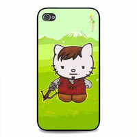 Cute Daryl Dixon Hello Kitty The Walking Dead For iphone 4 and 4S case