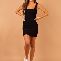 The Gracie Knit Mini Dress Black | Princess Polly
