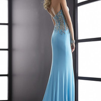 Long Strapless Sweetheart Evening Gown