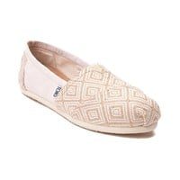 Womens TOMS Classic Diamond Print Casual Shoe
