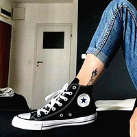 "Alwayn ""Converse"" Fashion Canvas Flats Sneakers Sport Shoes High tops Black"