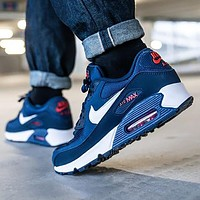 NIKE Air Max 90 Prm stitching color air cushion men's and women's basketball sneakers Shoes