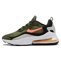 Nike AIR MAX 270 New fashion hook sports leisure running shoes Army Green