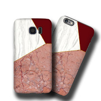 Marble Mix iPhone 6 case iPhone 5c case iPhone 6s plus case Geometric Samsung Galaxy Note 5 Samsung Galaxy S7 case Galaxy S6 Edge Plus case