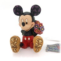 Jim Shore MINI MICKEY WITH FLOWERS Polyresin Disney Traditions 4054284