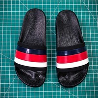 Gucci Leather Slide With Bow Fashion Style 107