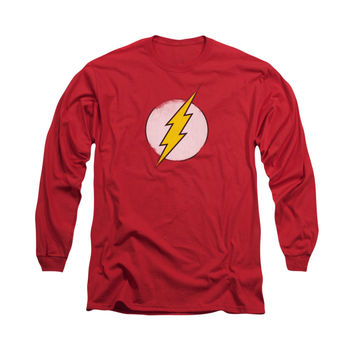 Flash Distressed Logo Mens Long Sleeve T-Shirt