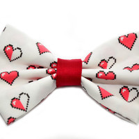 Zelda Hearts Hair Bow by uniquechicbowtique on Etsy
