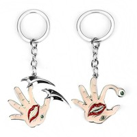 S/C Fashion High Quality Horror Anime Guidelines For The Life Of Parasitic Beasts Keychain Cosplay Men Hand&Eye&Mouth Keyring