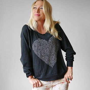 Womens Collective Animal Nouns Heart Pullover