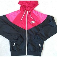 NIKE Fashion Hooded Sweatshirt Zipper Cardigan Coat Jacket Windbreaker