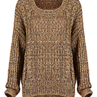 Knitted Jumper in Apricot