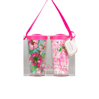 Lilly Pulitzer Insulated Tumbler With Lid Set
