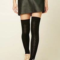 Pointelle Over-The-Knee Socks