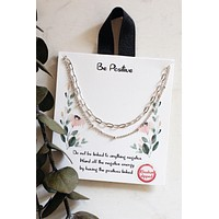Be Positive Necklace- Silver