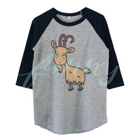 Goat farm shirts for toddlers raglan shirt for kids >>View bust size in inches options **toddlers boys girls tops Baby clothes