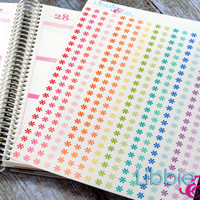 Rainbow Asterisk Life Planner Die-Cut Stickers! Set of 391 Perfect for Erin Condren, Limelife, Plum Paper, Kikki, or Filofax Planners!