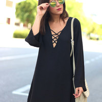 Black Swan Shift Dress