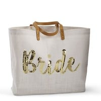 Bride Sequin Tote (available in silver or gold)