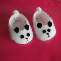 18 inch Doll Clothes for the American Girl - Panda Slippers