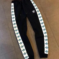 Adidas Fashion Casual Black Pants Trousers Sweatpants