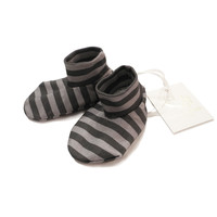 black grey stripe bootie