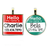 Hello, My name is...Custom Pet ID Tag