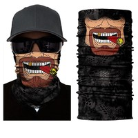 BJMOTO 2018 Men Scarves Face Shield Sun Mask Balaclava Seamless Washouts Scarf Outdoor Ride Bandanas Sport Motorcycle bike Scarf