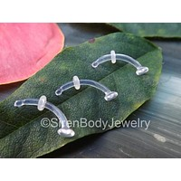 """Rook piercing retainer clear daith earring 16g 5/16""""-3/8"""" mri safe body jewelry retainers"""