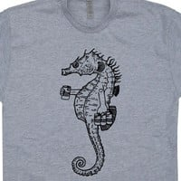 Seahorse T Shirts Funny Beer T Shirts Cool Beer Shirt Vintage Animal Shirt