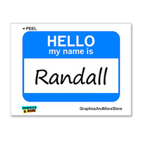Randall Hello My Name Is Sticker