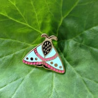 Moth enamel pin // insect enamel pin // butterfly enamel pin // Hard Enamel // Badge // Brooch // limited edition