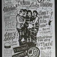 5SOS Collage Print (5 seconds of summer)