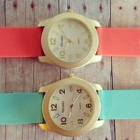Matte Gold Silicone Watch  from GypsyRoom