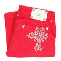 Miss Me Red Stitched Cross Skinny Jeans JP5045S10 RED - PFI Western Store