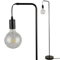 Thomas Floor Lamp - Industrial Standing Lamp with G125 LED Bulb Included