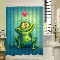 Cool Frog Shower Curtain