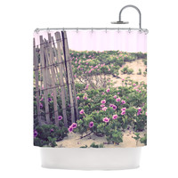 """Ann Barnes """"Morning at the Beach"""" Flowers Shower Curtain, 69"""" x 70"""" - Outlet Item"""