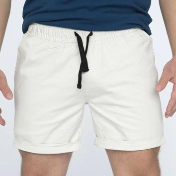 The 'Paradise' Stretch Twill Short in Ivory Sizes XL & XXL Available