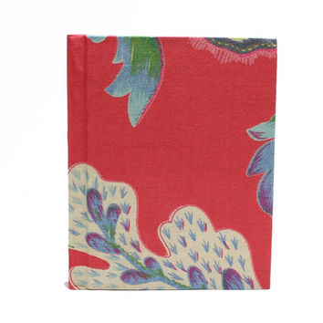 Floral print cotton fabric Handmade paper Diary/Journal best use- writing, travel & Christmas gift