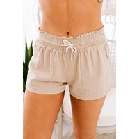 Days Go By Linen Shorts (Taupe)