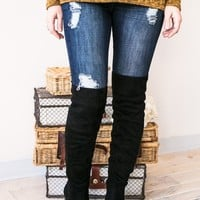 For The Dramatics Black Over The Knee Boots