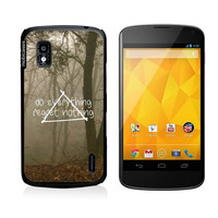Hipster Quote - Do Everything Regret Nothing Misty Woods Google Nexus 4 Case - For Nexus 4