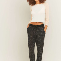 Out From Under Cosy Speckled Black Joggers - Urban Outfitters