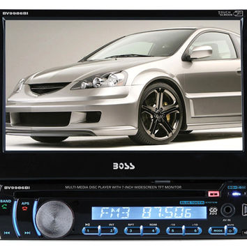 Boss BV9986BI Car Stereo 7In Indash Din Touchscreen Monitor