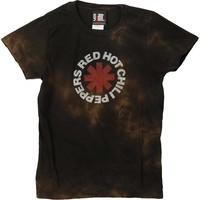 Red Hot Chili Peppers  Weathered Junior Top Black