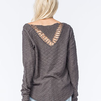Rip Curl Carefree Womens Sweater Charcoal  In Sizes