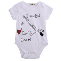 born Baby Boy Clothes Girl Baby grows Cotton Rompers