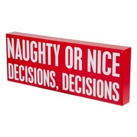 Primitives by Kathy 'Naughty or Nice' Box Sign | Nordstrom